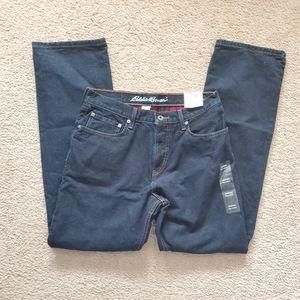 NWT Eddie Bauer plaid lined jeans